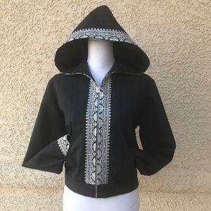 Josephine Loka 100% Wool Hoodie Jacket, Medium